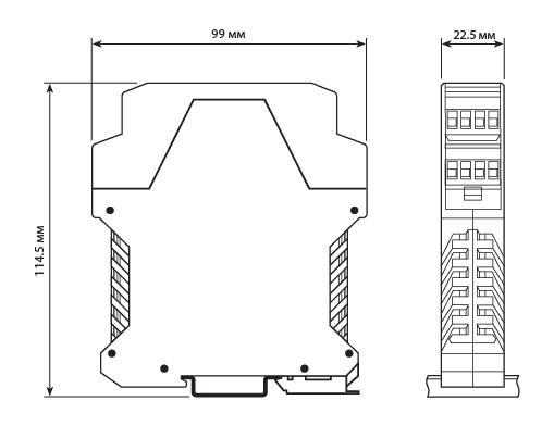 Размеры модуля серии D1000